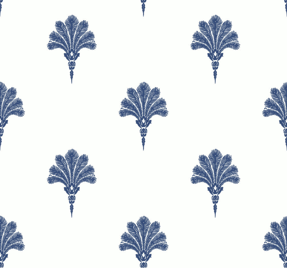 Summer Fan Wallpaper in Coastal Blue from the Beach House Collection by Seabrook Wallcoverings
