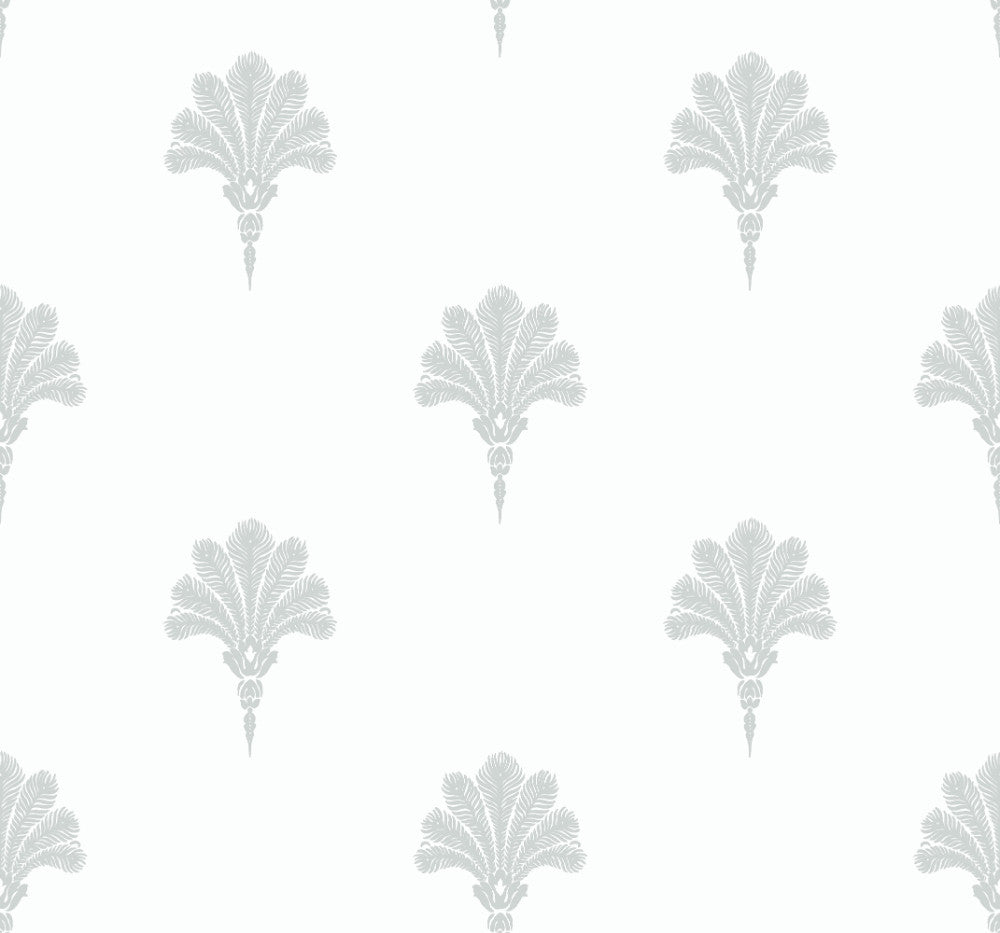Sample Summer Fan Wallpaper in Daydream Grey from the Beach House Collection by Seabrook Wallcoverings