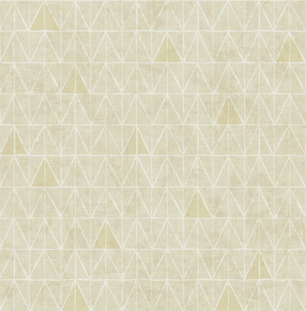 Sample Summit Wallpaper in Gold and Sand from the Stark Collection by Mayflower Wallpaper