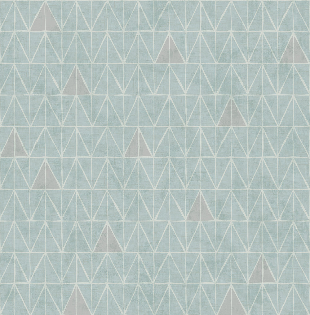Sample Summit Wallpaper in Grey and Blue from the Stark Collection by Mayflower Wallpaper