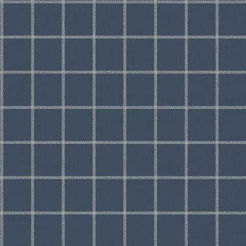 Sunday Best Wallpaper in Blue from the Magnolia Home Vol. 3 Collection by Joanna Gaines