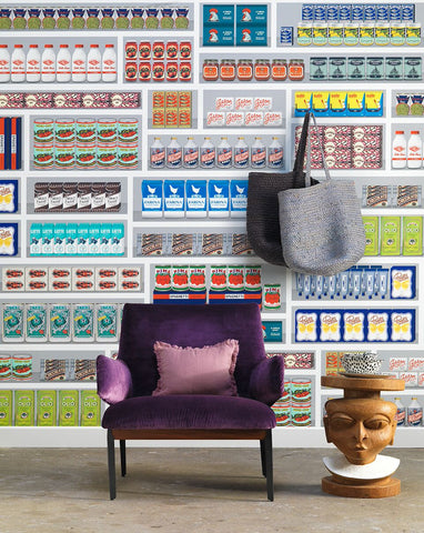 Supermarket Wallpaper design by Paola Navone for NLXL Lab