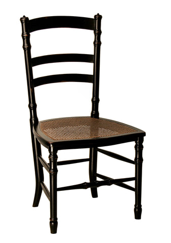 Swedish Cane Side Chair in Black design by Redford House