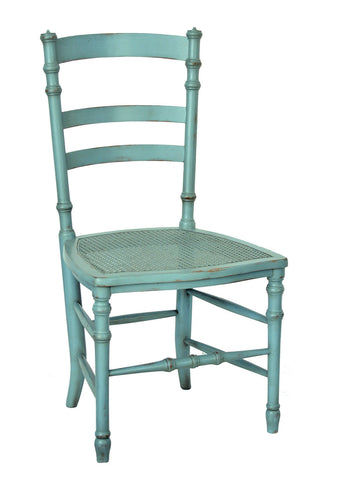 Swedish Cane Side Chair in Robin's Egg Blue design by Redford House