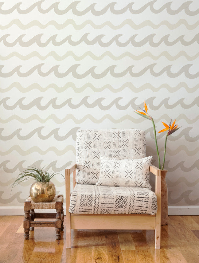 Swell Wallpaper in Coconuts design by Aimee Wilder