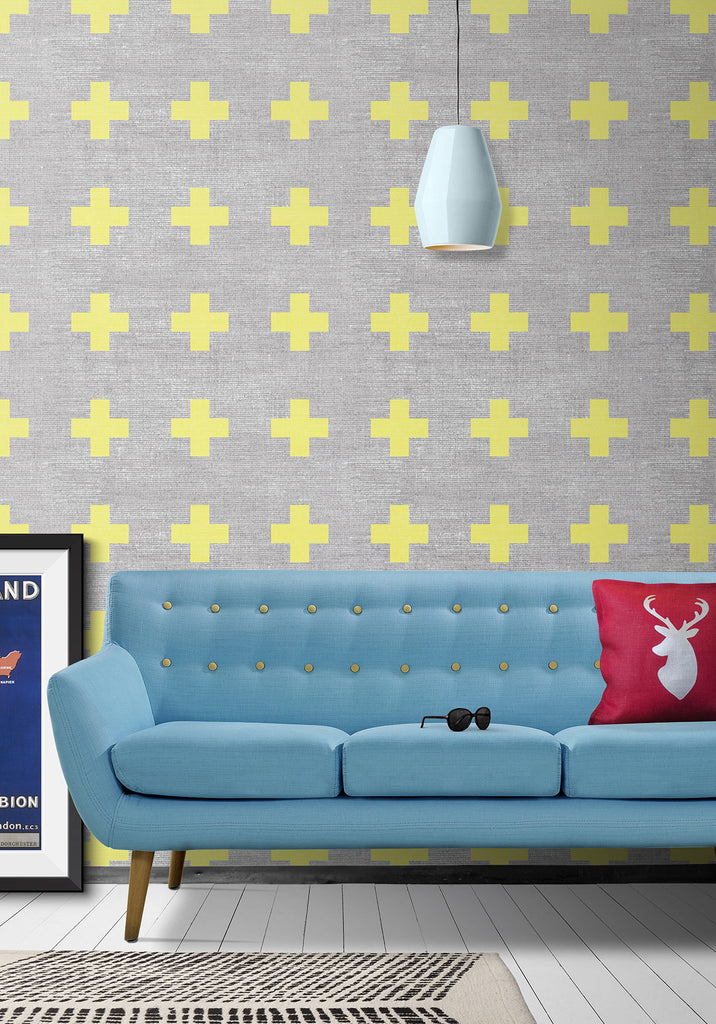 Swiss Linen Wallpaper by Ingrid + Mika for Milton & King