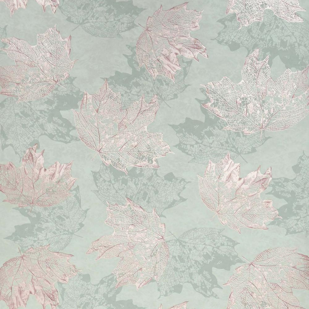 Sycamore Wallpaper In Sage And Rose Gold From The Folium