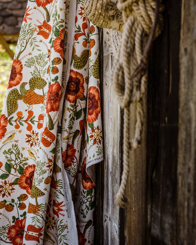 Szekely Linen Fabric in Multi by Mind the Gap