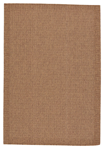 Maeva Indoor/Outdoor Border Light Brown Rug by Jaipur Living