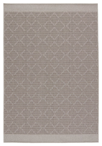 Motu Indoor/Outdoor Trellis Grey & Taupe Rug by Jaipur Living