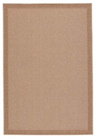 Pareu Indoor/Outdoor Border Beige & Light Brown Rug by Jaipur Living