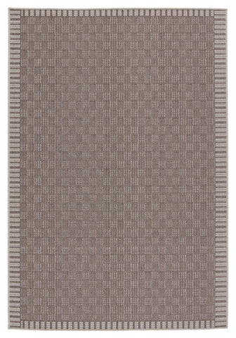 Iti Indoor/Outdoor Border Taupe & Grey Rug by Jaipur Living