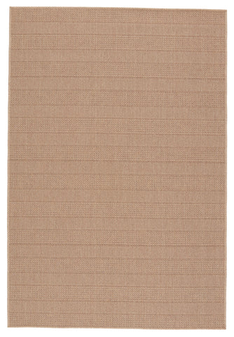Avae Indoor/Outdoor Striped Beige & Light Brown Rug by Jaipur Living