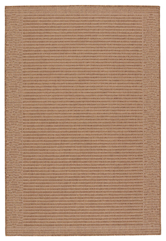 Vahine Indoor/Outdoor Border Light Brown & Beige Rug by Jaipur Living