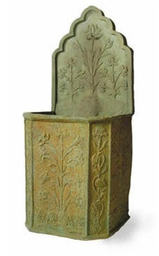 Taj Tank and Wall Fountain in Bronzage Finish design by Capital Garden Products