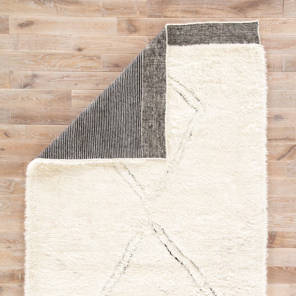 Ephesus Geometric Rug in Angora & Jet Black design by Jaipur