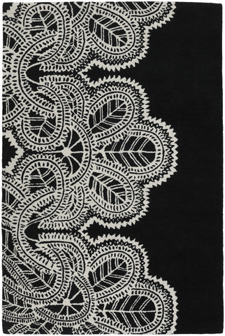 Taru Collection Hand-Tufted Area Rug in Black & White design by Chandra rugs