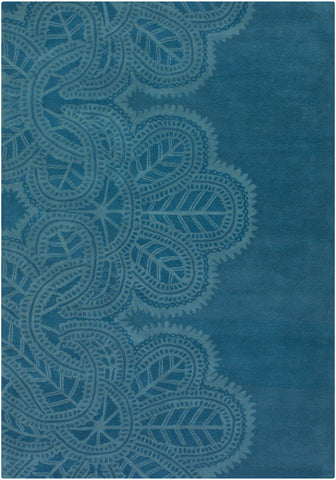 Taru Collection Hand-Tufted Area Rug in Blue design by Chandra rugs