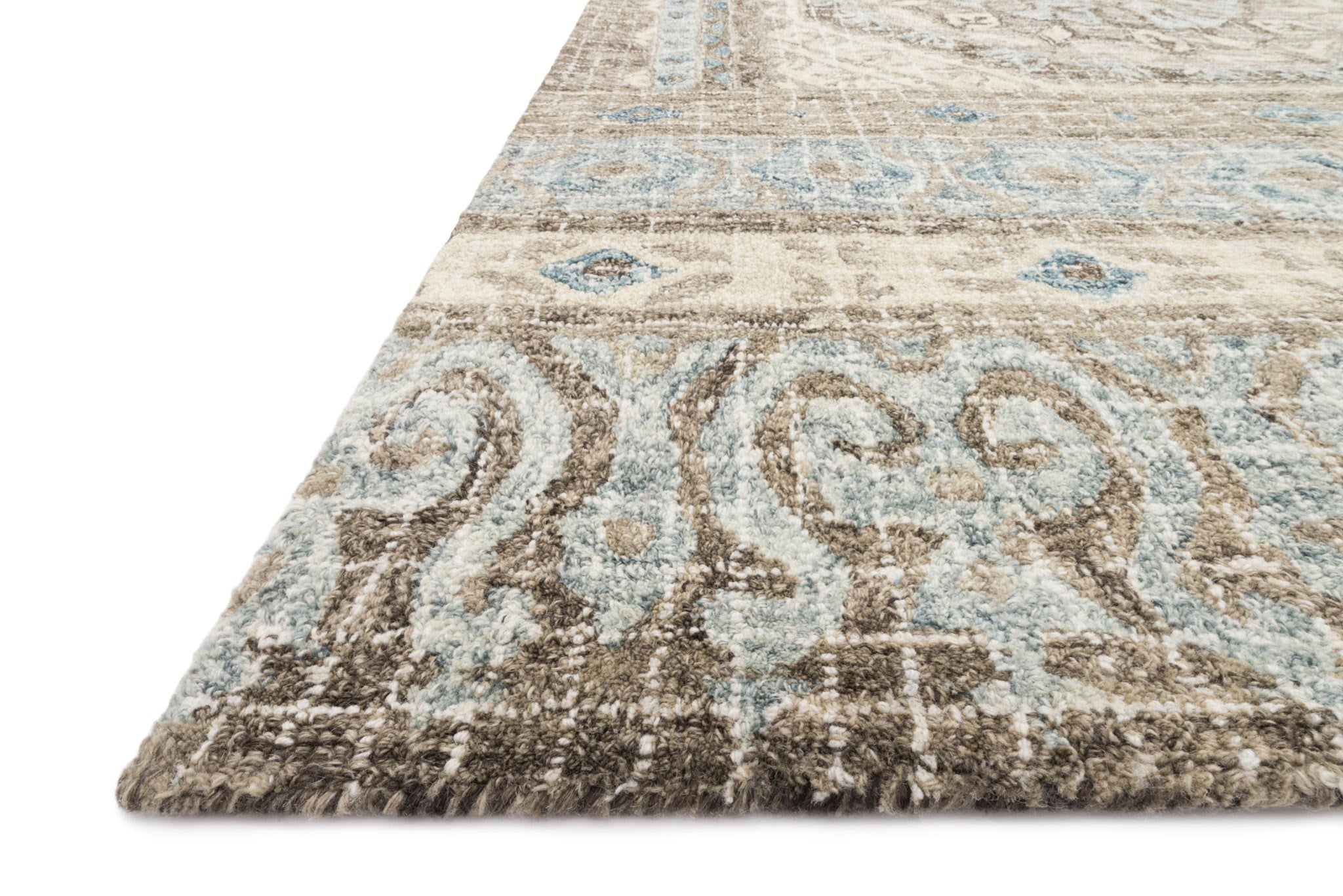 Tatum Rug In Stone And Blue By Loloi Burke Decor