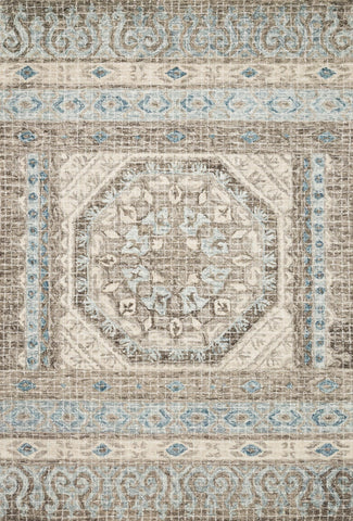 Tatum Rug in Stone and Blue by Loloi