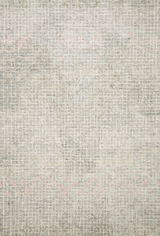 Tatum Rug in Grey and Blush by Loloi