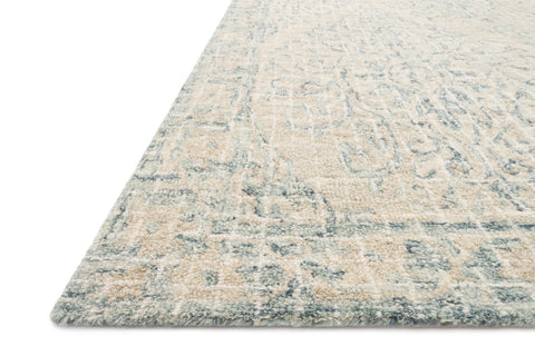 Tatum Rug in Natural and Sky by Loloi