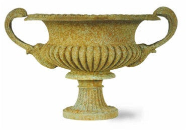 French Tazza Urn in Bronzage Finish design by Capital Garden Products
