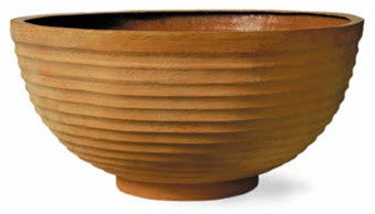 Thames Bowl Planter in Terracotta Finish design by Capital Garden Products