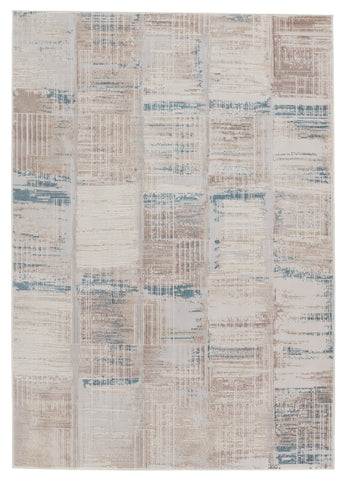 Halvard Abstract Ivory & Blue Rug by Jaipur Living