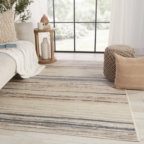 Haldor Abstract Ivory & Blue Rug by Jaipur Living