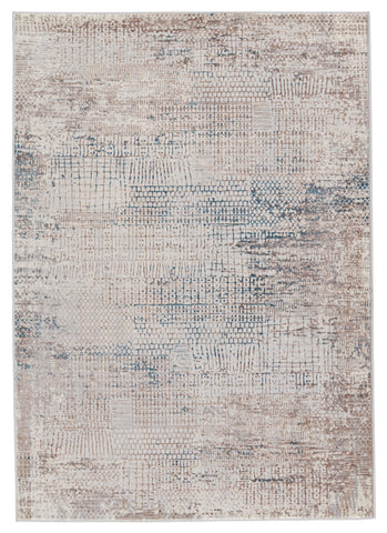 Tolsten Abstract Ivory & Blue Rug by Jaipur Living