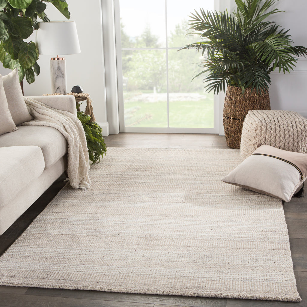 Minuit Handmade Geometric Gray/ Tan Rug by Jaipur Living