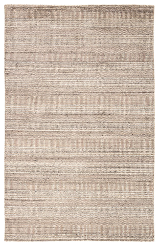 Minuit Handmade Geometric Gray & Tan Area Rug