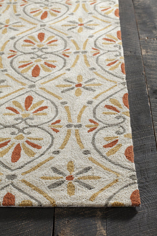 Terra Collection Hand-Tufted Area Rug in Cream, Grey, & Orange design by Chandra rugs