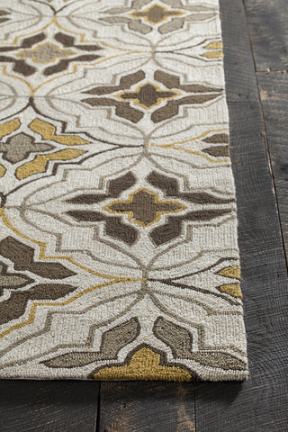 Terra Collection Hand-Tufted Area Rug in Cream, Brown, & Yellow design by Chandra rugs