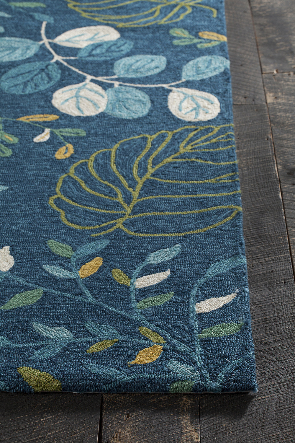 Terra Collection Hand Tufted Area Rug In Blue, Cream, Green, U0026 Yellow  Design By Chandra Rugs