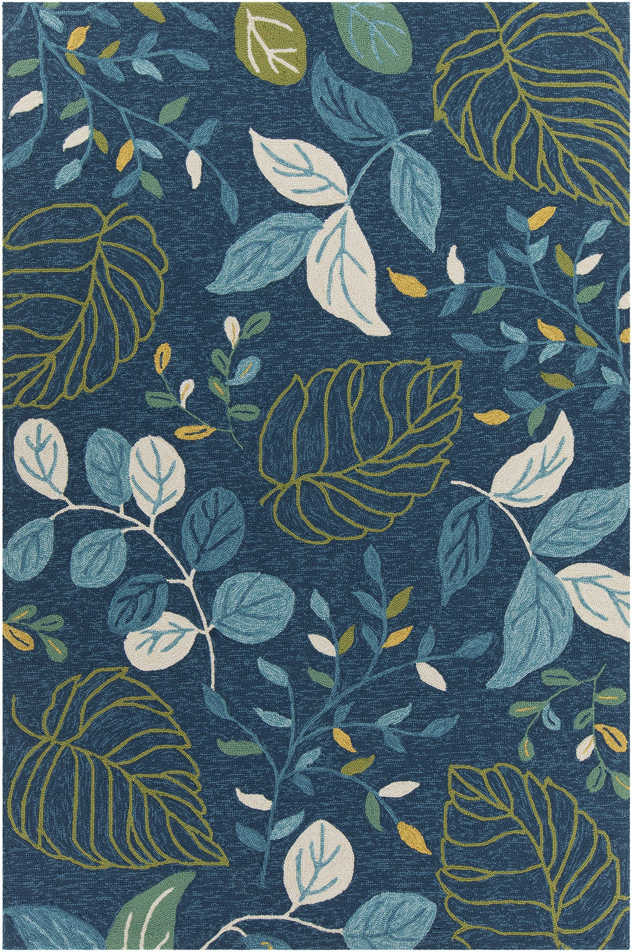 Terra Collection Hand Tufted Area Rug In Blue Cream Green