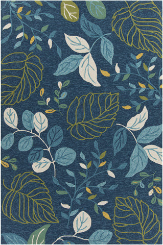 Terra Collection Hand-Tufted Area Rug in Blue, Cream, Green, & Yellow design by Chandra rugs