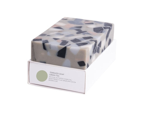 Absolute Terrazzo Soap in Green Tea design by Fazeek