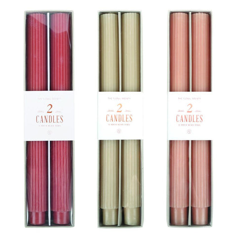 Fancy Taper Candles in Various Colors & Styles