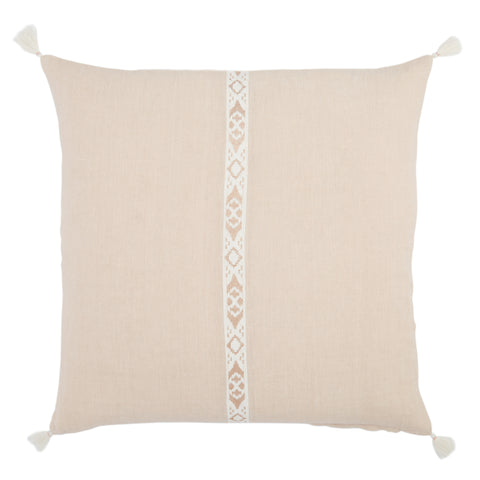 Joya Tribal Pillow in Blush & Ivory by Jaipur Living