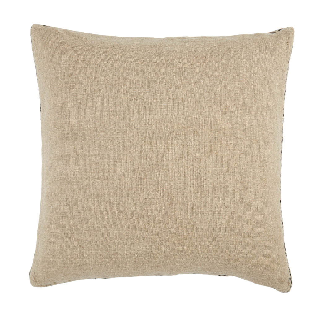 Seti Border Pillow in Beige & Dark Grey by Jaipur Living