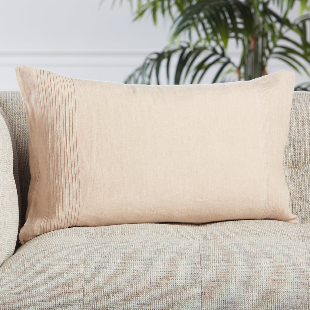 Rosario Solid Blush Pillow by Jaipur Living