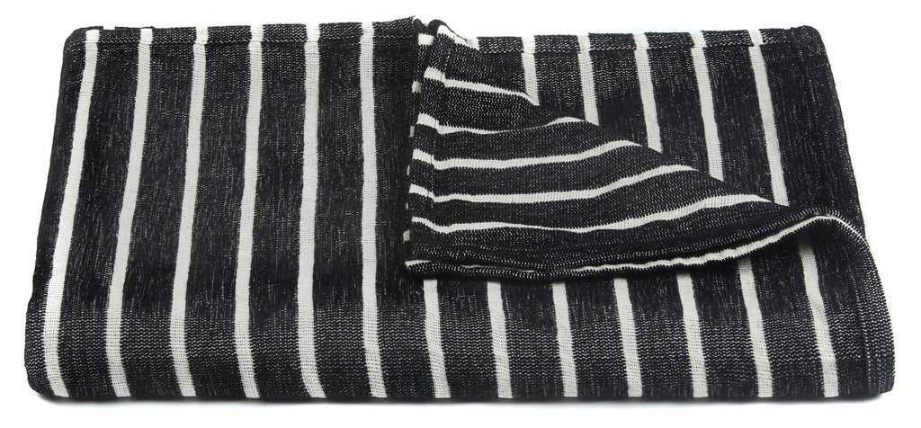Aria Collection Throw in Black & White