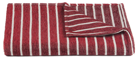 Aria Collection Throw in Red & White