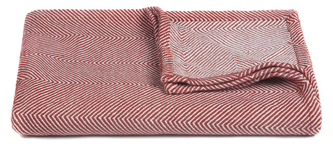 Ella Collection Throw in Red & White