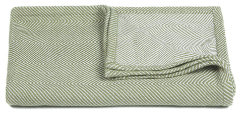 Ella Collection Throw in Green & White
