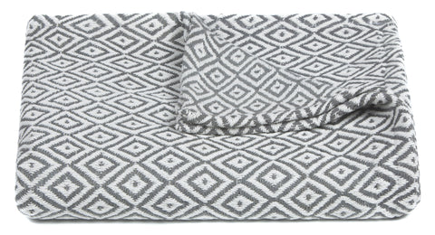 Lia Collection Throw in Grey & White