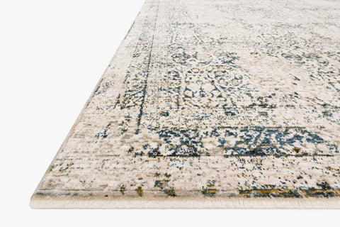 Theia Rug in Natural & Ocean by Loloi