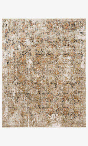 Theia Rug in Taupe & Gold by Loloi